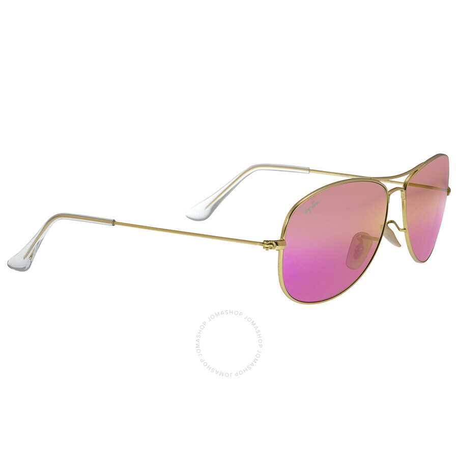 f1251121ad ... Rayban Cockpit Pink Cyclamen Flash Sunglasses RB3362 112 4T 59-14 ...