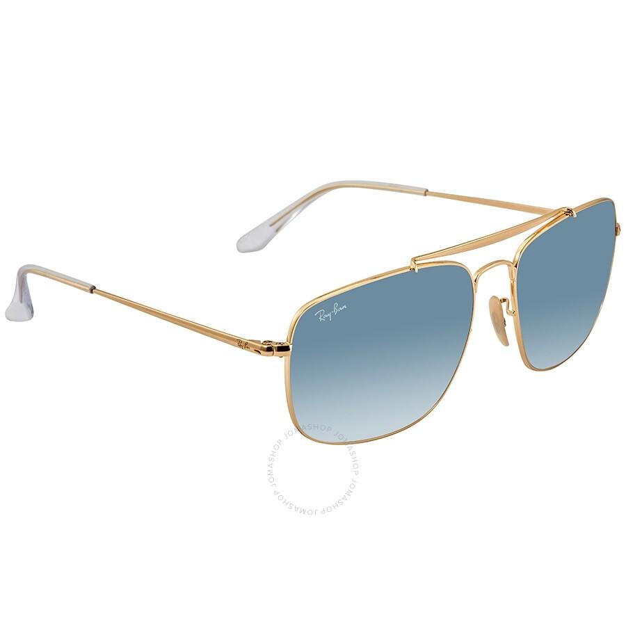 24c1aea09 RayBan Colonel Light Blue Gradient Square Sunglasses RB3560 001/3F 61 ...
