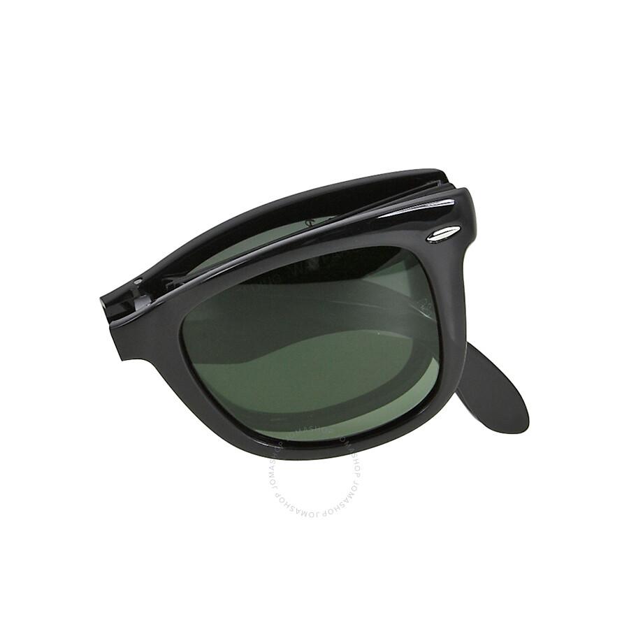 Rayban Folding Wayfarer Black Plastic 50mm Men S Sunglasses Rb4105 601 58 50 22