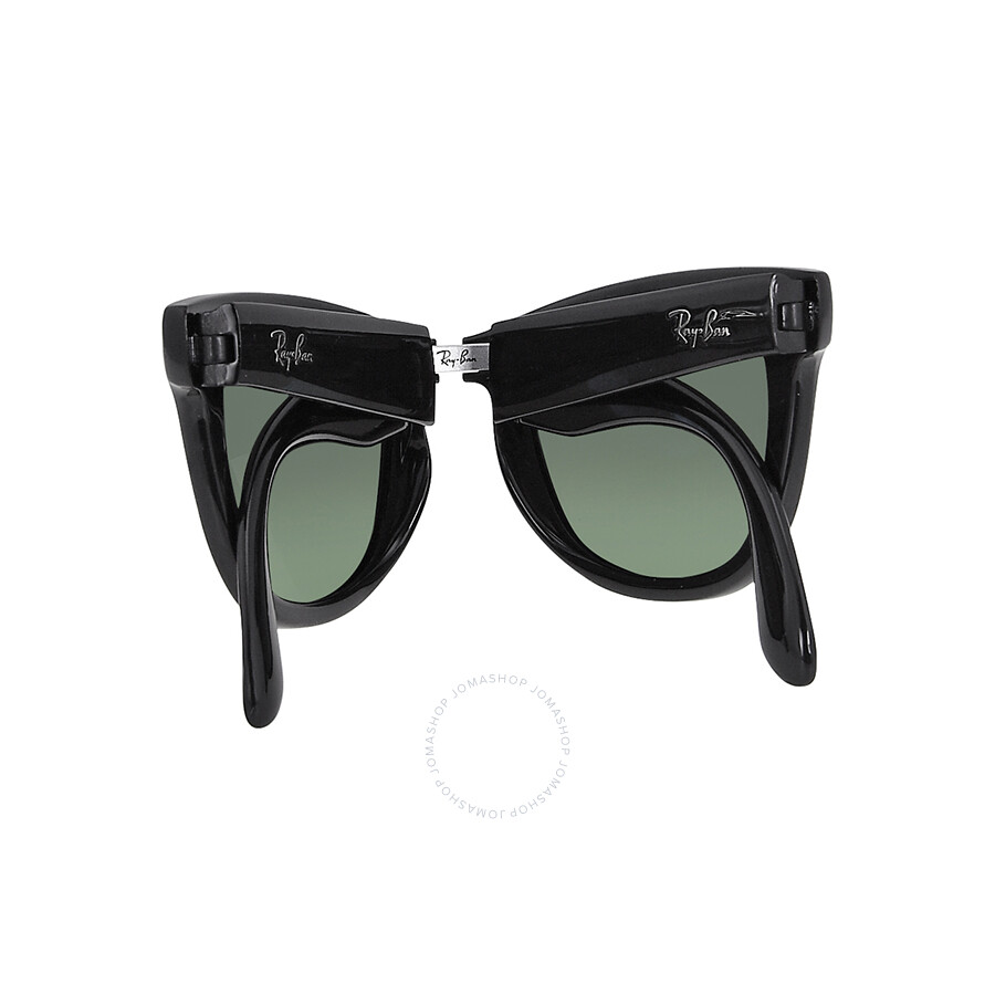 Mens Sunglasses Ray Ban  rayban folding wayfare black plastic 50mm men s sunglasses rb4105