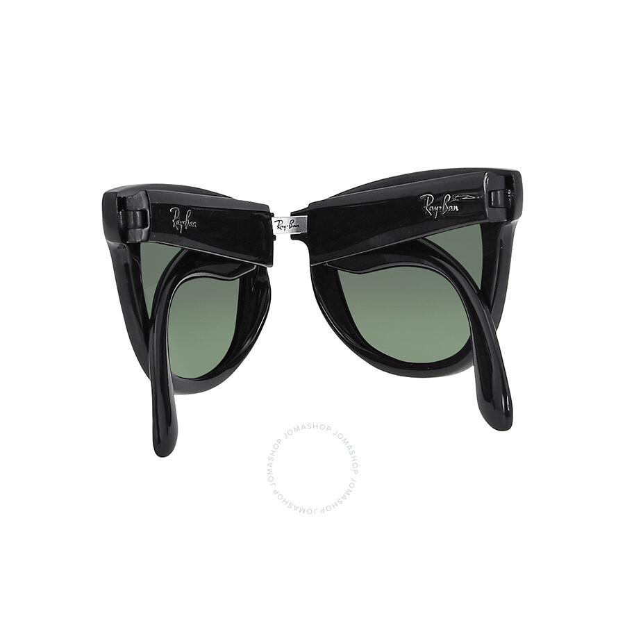 089e0fb95 Rayban Folding Wayfare Black Plastic 50mm Men's Sunglasses RB4105 601/58 50 -22