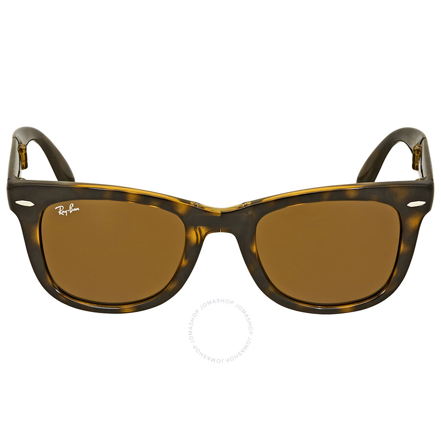 1876944bab0 Rayban Folding Wayfarer Light Havana Tortoise Resin Sunglasses RB4105-50-710
