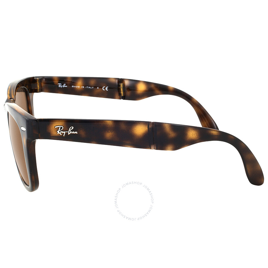 923de04b69 Rayban Folding Wayfarer Light Havana Tortoise Resin Sunglasses RB4105-50-710