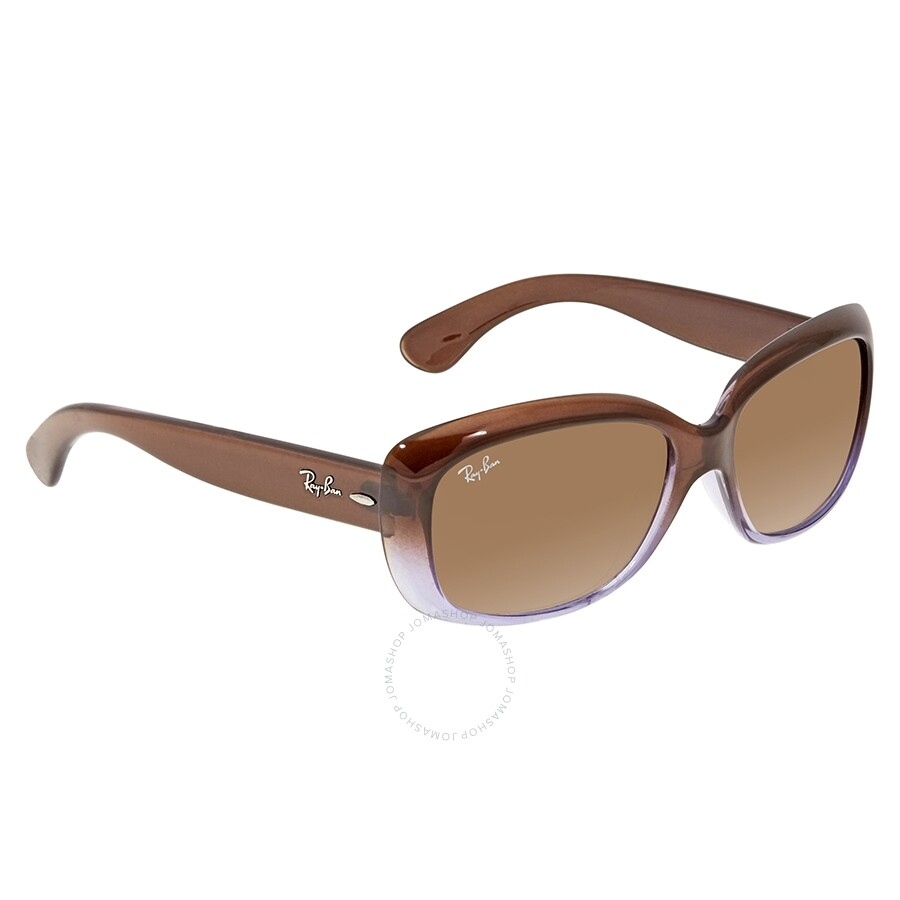 0c9576d5dcb7 RayBan Jackie Ohh Brown Gradient Rectangle Sunglasses RB4101 860/51 58 ...