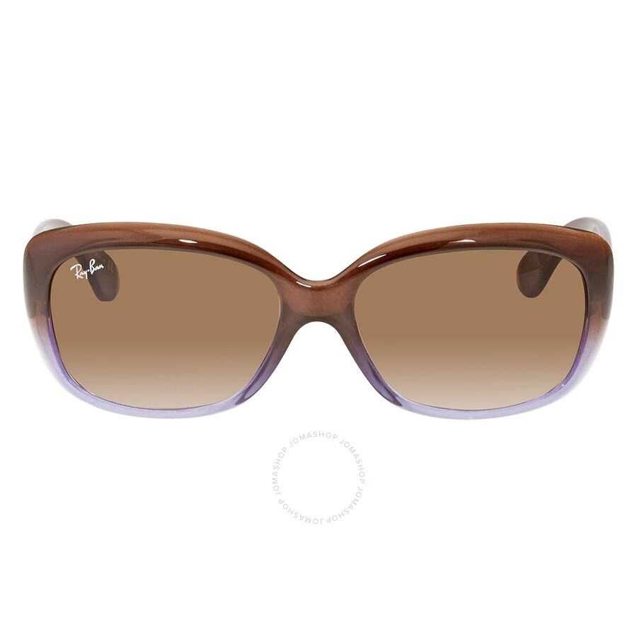 585f7b6909cc ... RayBan Jackie Ohh Brown Gradient Rectangle Sunglasses RB4101 860/51 58  ...