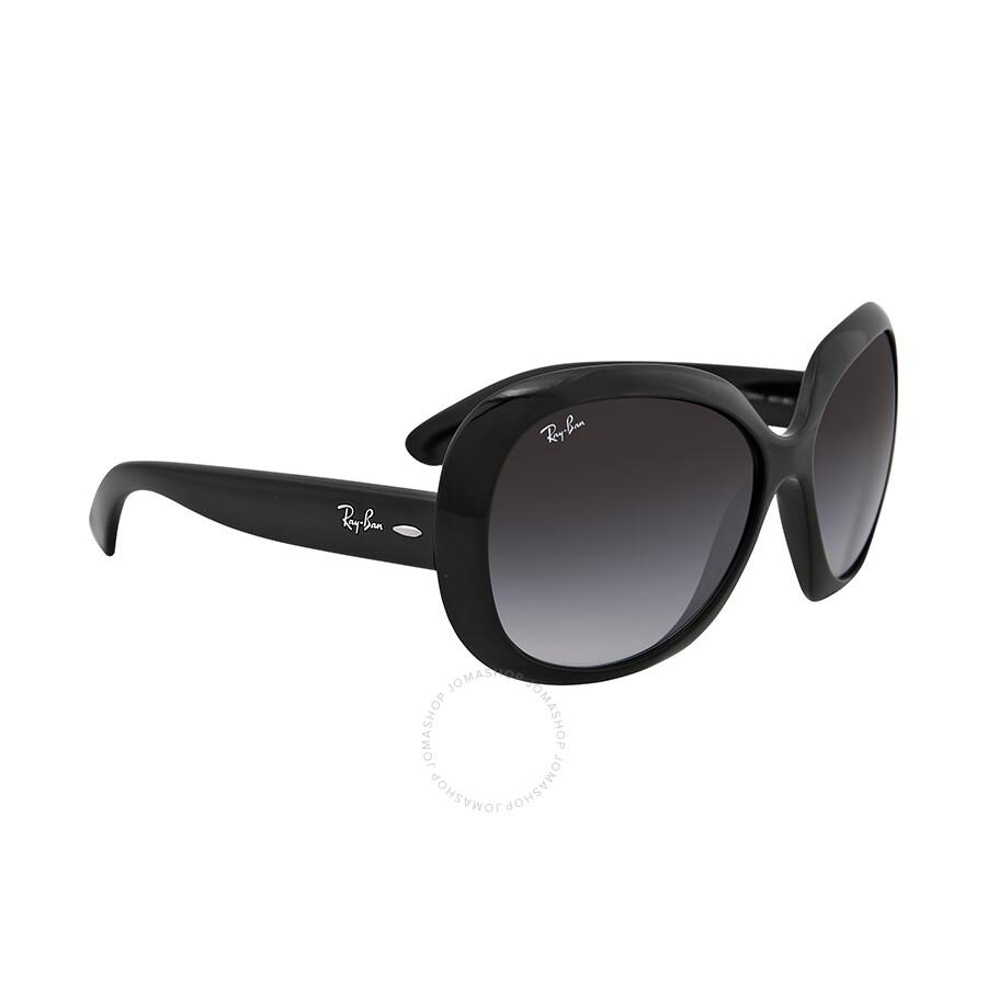 ray ban ladies  Rayban Jackie OHH II Black Gradient Grey 60mm Ladies Sunglasses ...