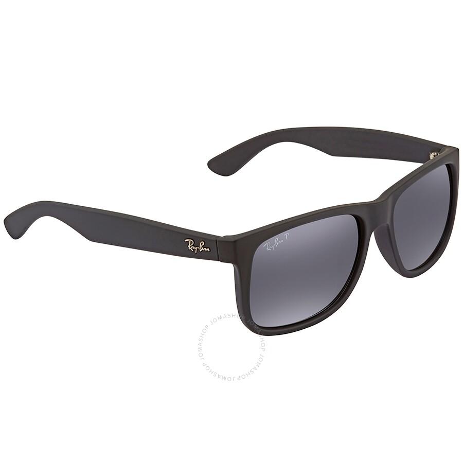 Rayban Justin Black Polar Square Sunglasses Rb4165f 622 T3 55