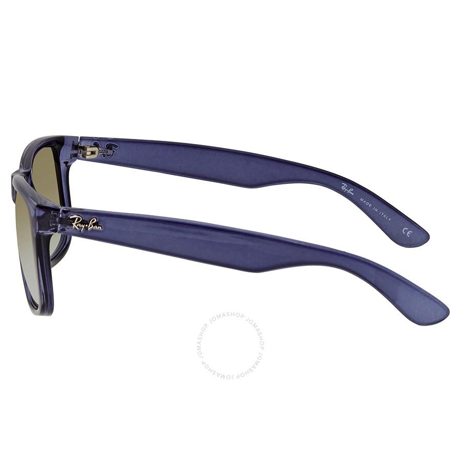 7b94660d210c ... RayBan Justin Flash Gradient Lenses Green Gradient Mirror Sunglasses  RB4165 6341T0 55