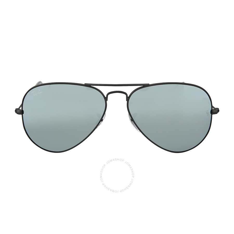 Ray-Ban Large Aviator Sunglasses, Gunmetal with Green Mirrored Lenses ...