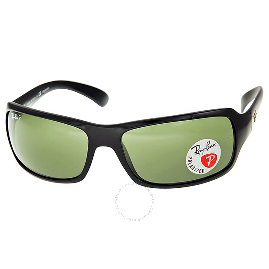 137105f3d2f Ray-Ban Matte Black Polarized Crystal Green Sunglasses RB4075 601S ...