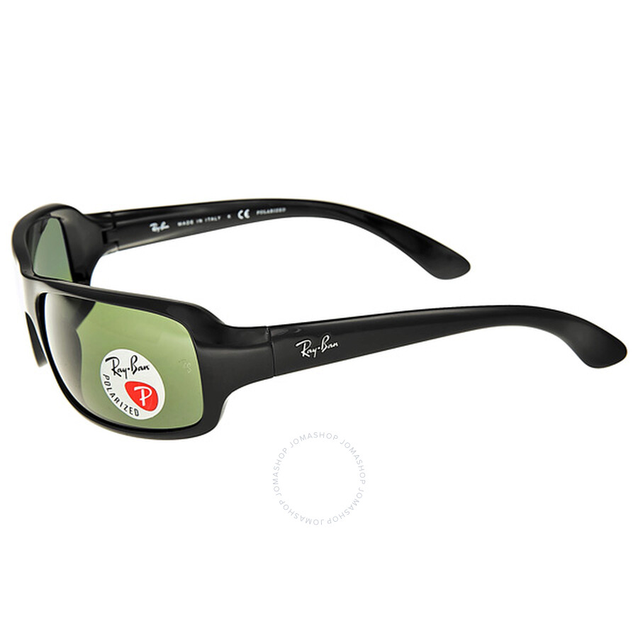 f758d021110 ... Ray-Ban Matte Black Polarized Crystal Green Sunglasses RB4075 601S ...