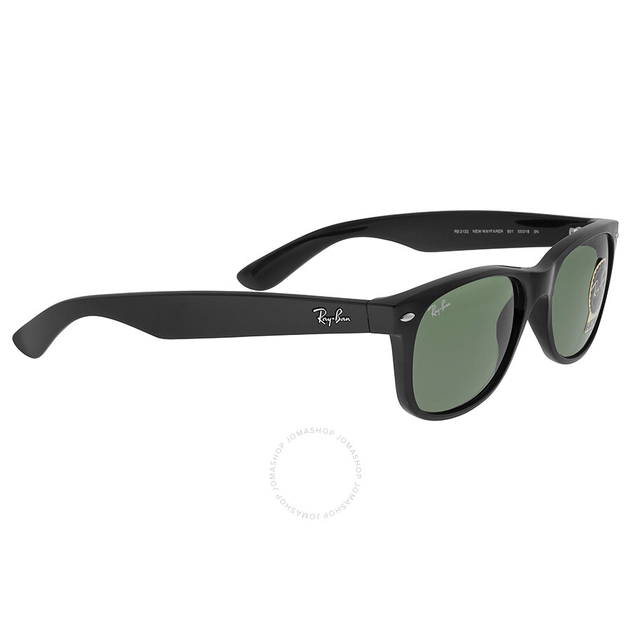 ray ban new wayfarer black 55mm sunglasses rb2132 901l 55 18 wayfarer ray ban sunglasses. Black Bedroom Furniture Sets. Home Design Ideas