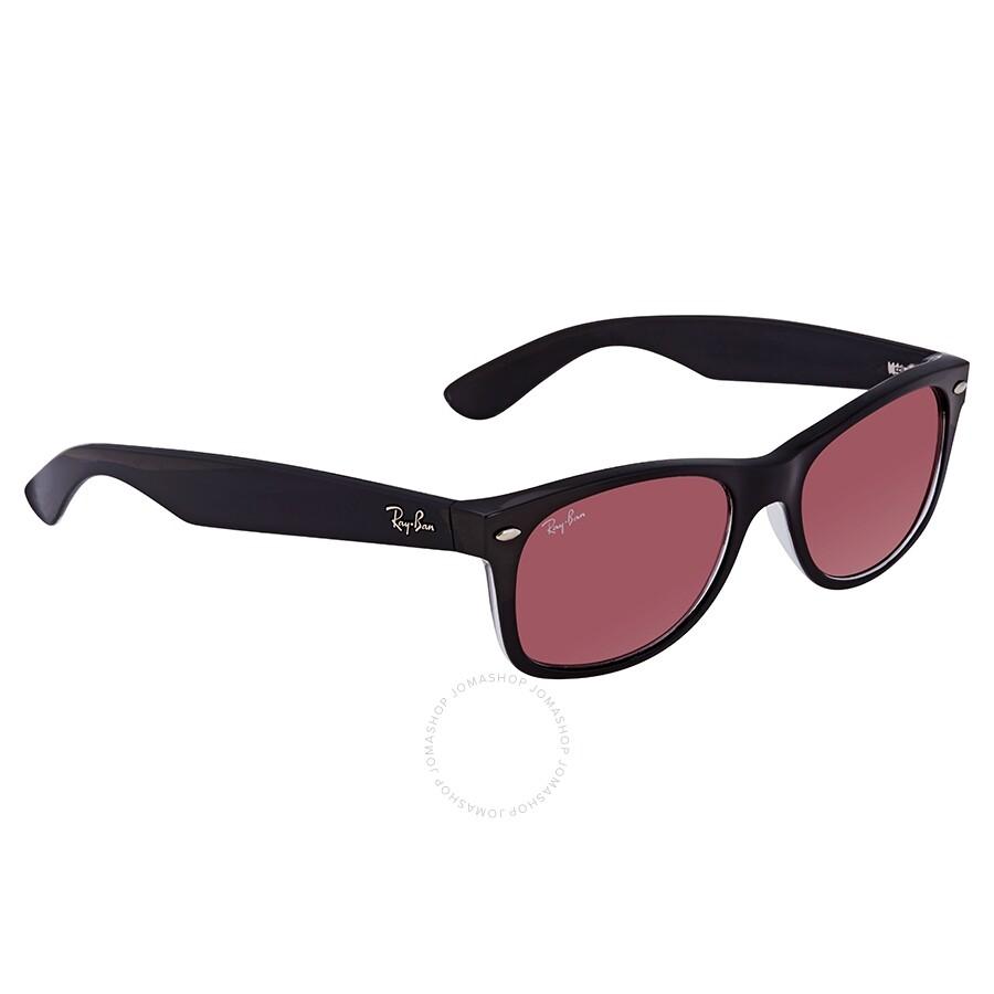 4afa7b775 RayBan New Wayfarer Classic Violet Photochromic Sunglasses RB2132 6398U0 52  ...