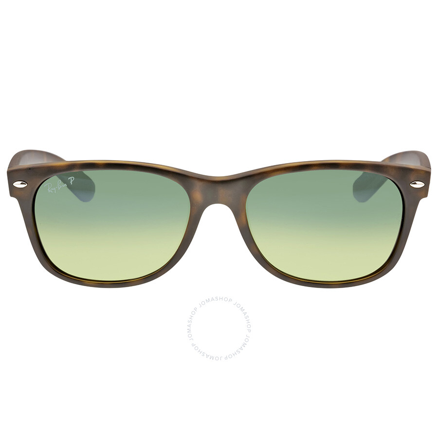 63cfb01b46 Ray-Ban New Wayfarer Havana Blue-Green 55mm Polarized Sunglasses  RB2132-89476- ...