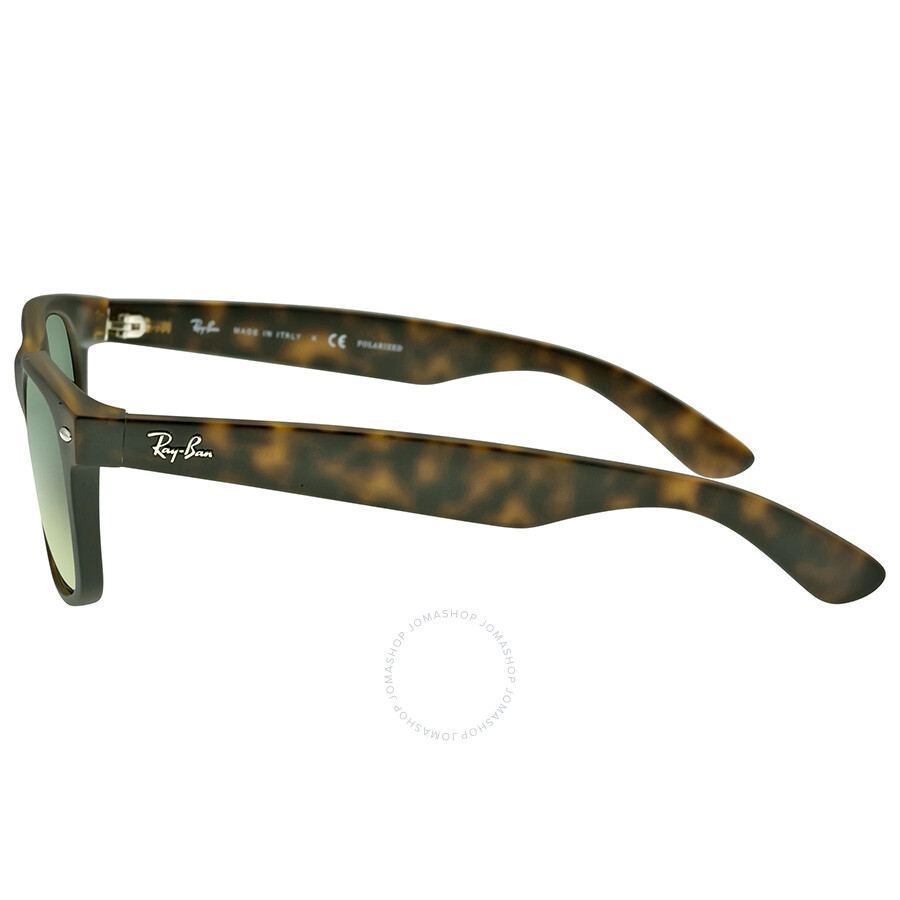 980604ebbf ... Ray-Ban New Wayfarer Havana Blue-Green 55mm Polarized Sunglasses RB2132- 89476- ...