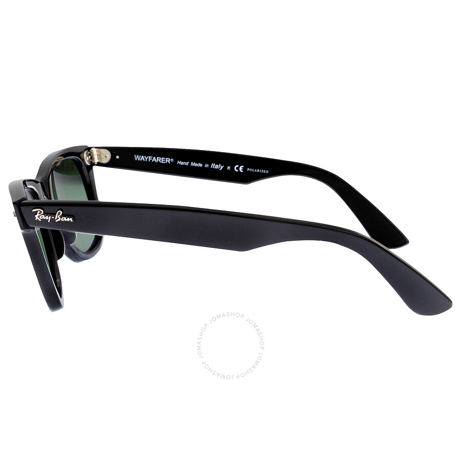 5be42ea7bf ... Ray-Ban Original Wayfarer Black Polarized Green G-15 50mm Sunglasses  RB2140 901  ...