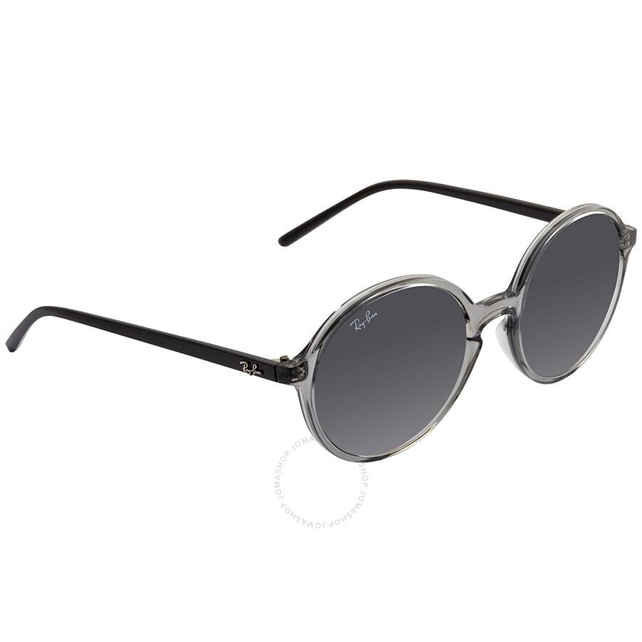 Rayban Rb4304 Round Transparent Dark Grey Sunglasses Rb4304 64368753