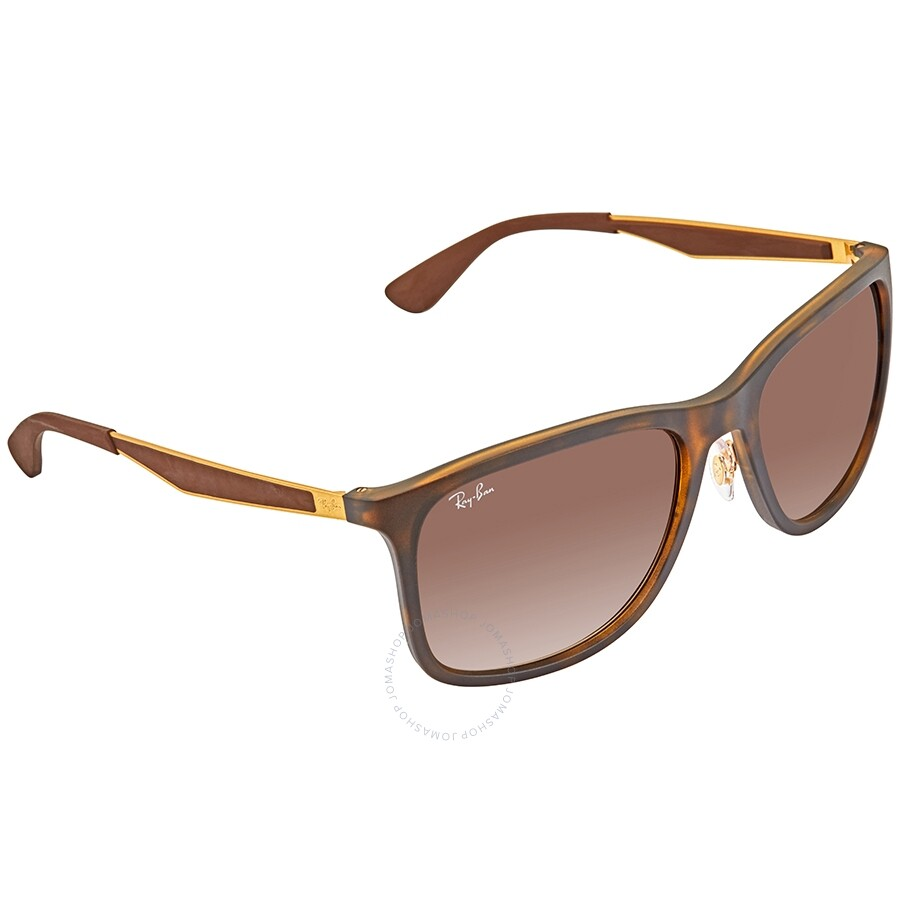 9fb22accae RayBan RB4313 Rectangle Brown Gradient Sunglasses RB4313 894/1358 ...