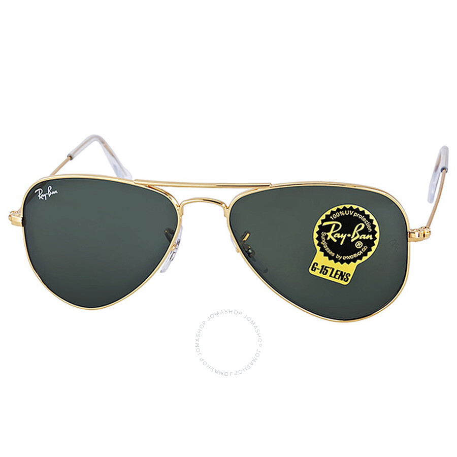e7af5d6fd92 Ray-Ban Small Aviator Sunglasses Arista Gold-Tone G-15 XLT 3044-52 ...