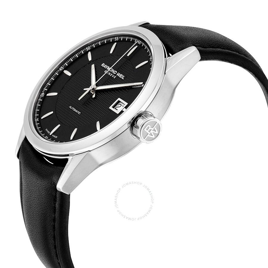 ... Raymond Weil Freelancer Automatic Black Dial Men's Watch 2740-STC-20021  ...