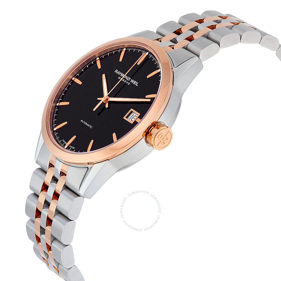 ... Raymond Weil Freelancer Automatic Black Dial Men's Watch 2740-SP5-20011  ...