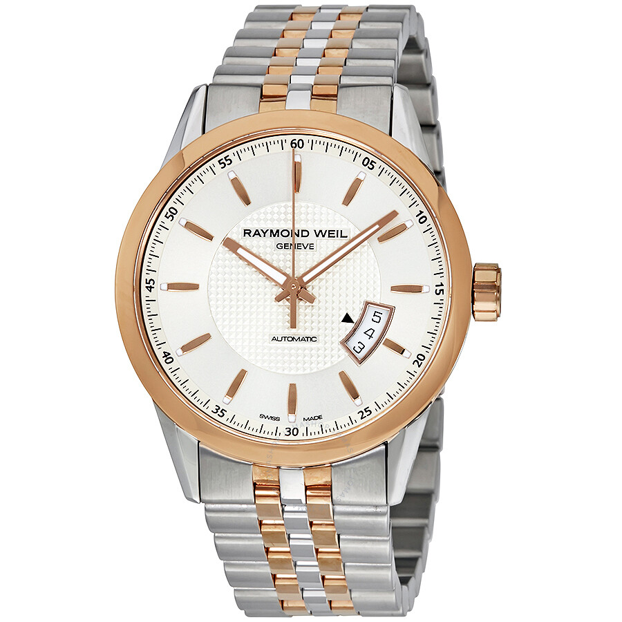 raymond weil lancer automatic silver dial two tone men s watch raymond weil lancer automatic silver dial two tone men s watch 2730 sp5 65021