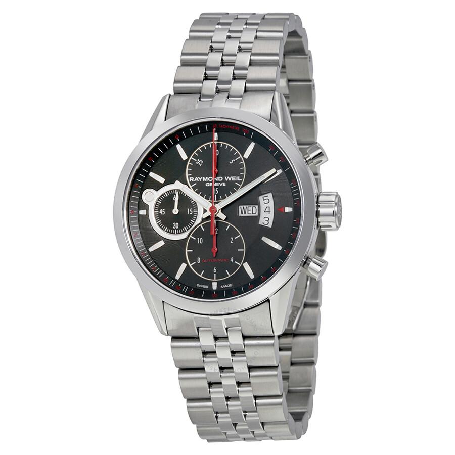 raymond weil lancer black dial chronograph stainless steel raymond weil lancer black dial chronograph stainless steel automatic men s watch 7730 st 20041