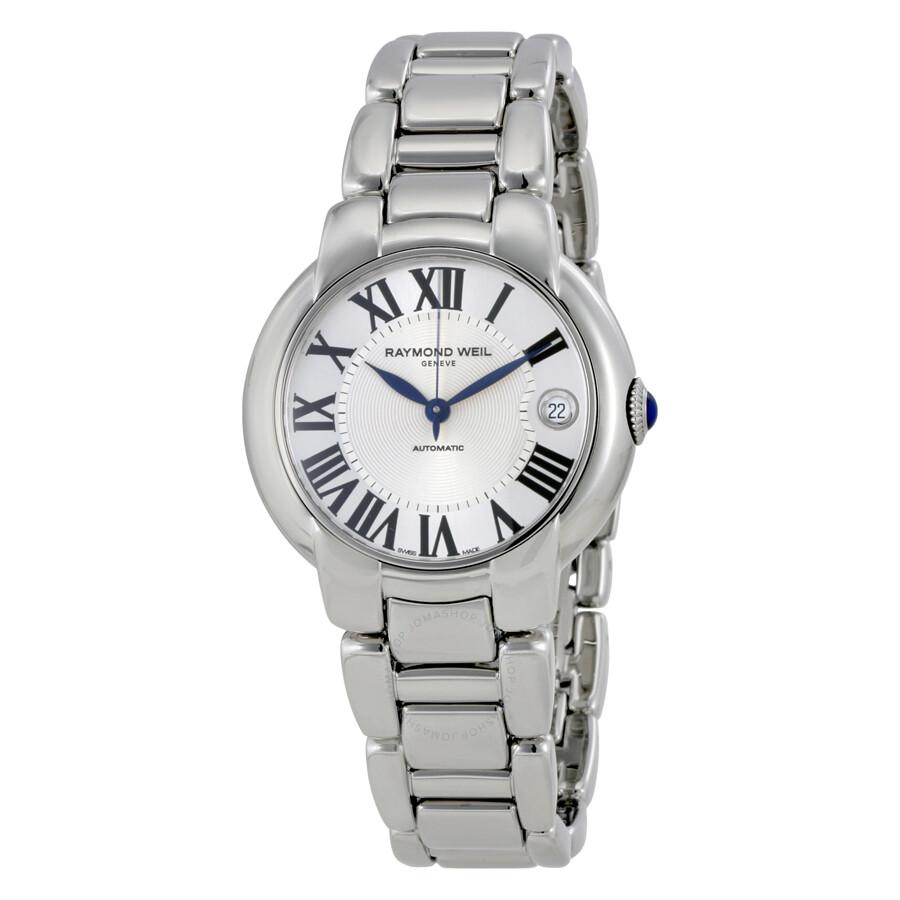 Raymond weil jasmine automatic silver dial stainless steel ladies watch 2935 st 00659 jasmine for Raymond watches