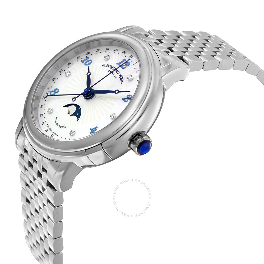 3d4b8f597 ... Raymond Weil Maestro Moonphase Automatic Mother of Pearl Dial Stainless  Steel Ladies Watch 2739-ST ...