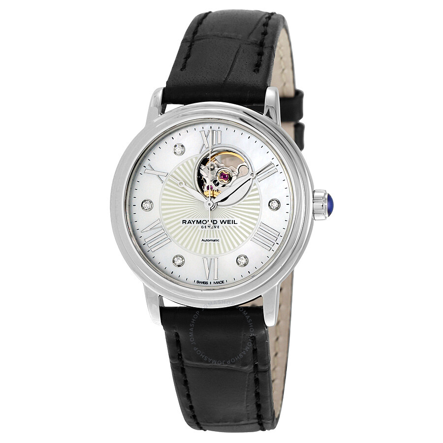 Raymond Weil Maestro Automatic Mother of Pearl Dial Ladies Watch 2627-STC-00965  ...