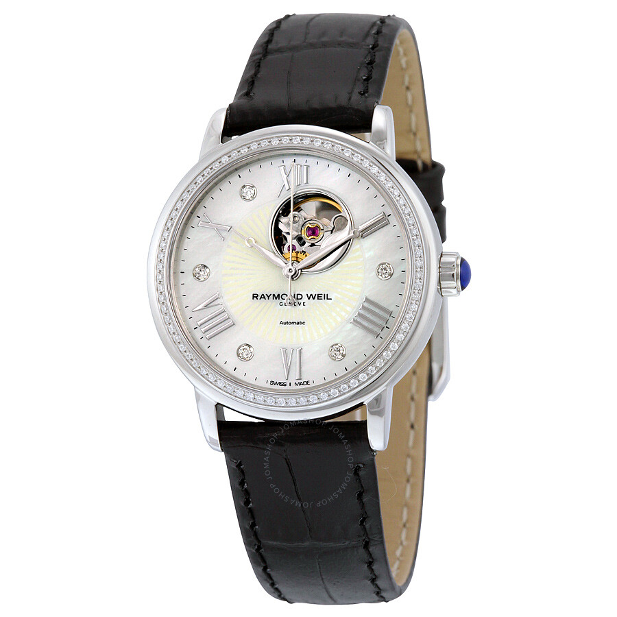 Raymond weil maestro automatic mother of pearl dial ladies watch 2627 sls 00965 maestro for Raymond weil watch