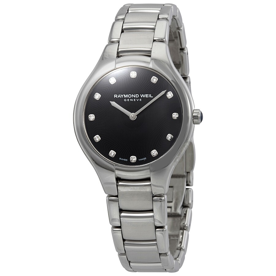 Raymond Weil Noemia Black Diamond Dial Ladies Watch 5132-ST-20081 ... 6e7b110e479