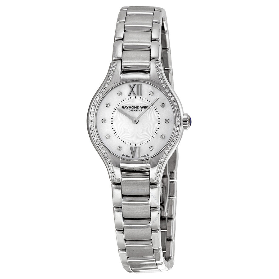 Raymond weil noemia mother of pearl diamond dial ladies watch 5124 sts 00985 noemia raymond for Raymond weil watch