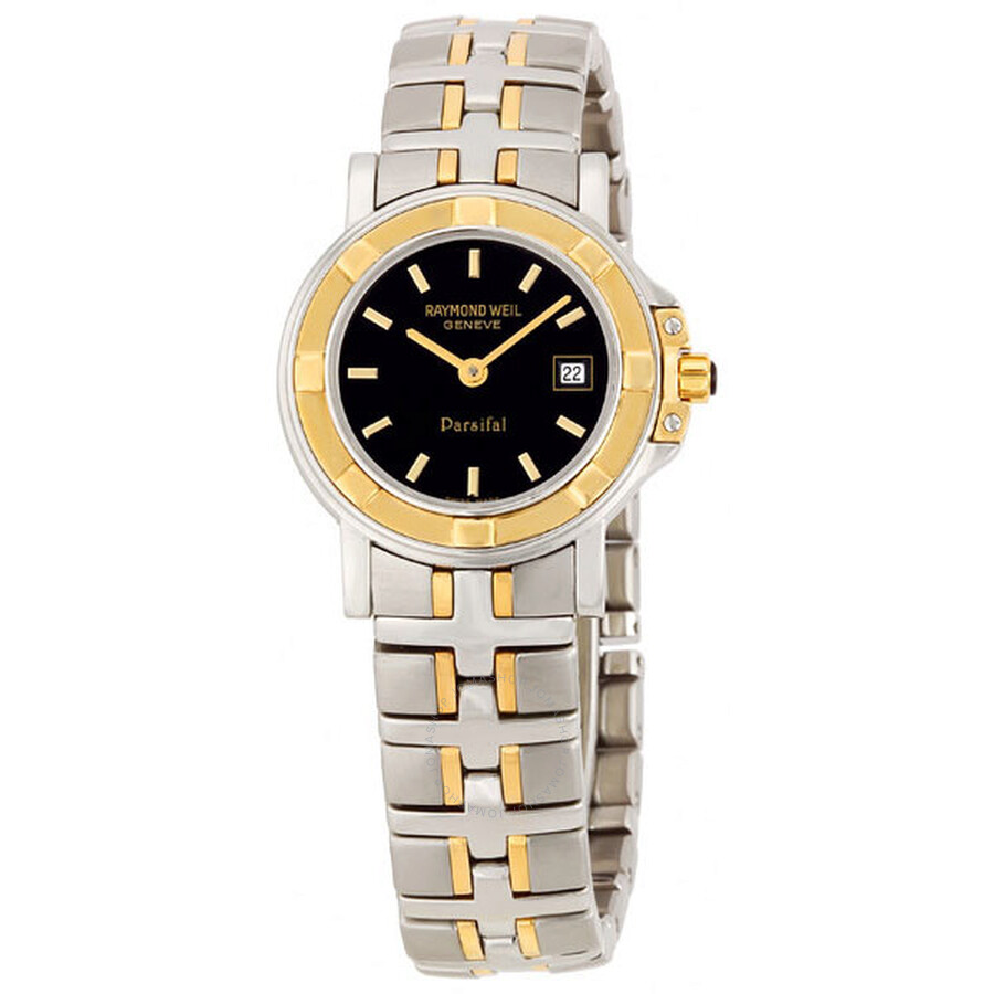 raymond weil parsifal ladiessteel and 18k gold 9430