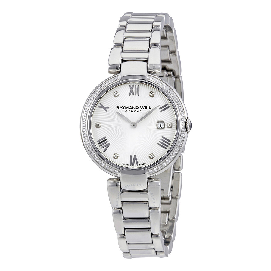 44521b6c158b Raymond Weil Shine Silver Dial Diamond Ladies Watch 1600-STS-00618