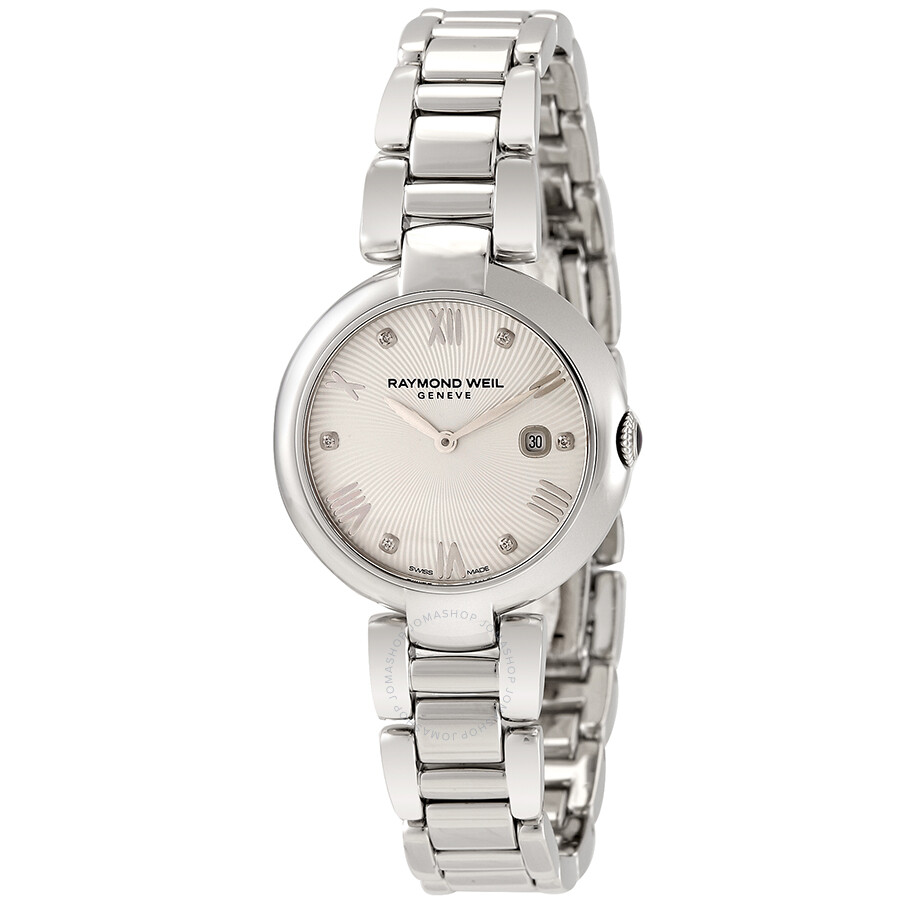 360916618d84 Raymond Weil Shine Silver Dial Ladies Watch + Leather Strap Item No. 1600-ST -00618