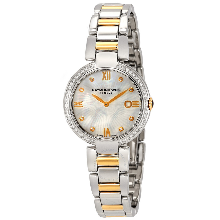 Raymond Weil Shine White Mother of Pearl Dial Ladies Watch 1600-SPS-00995  ... 7215100ae6