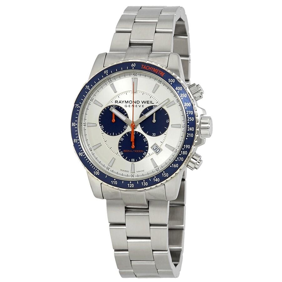 2a0c9150cf4 Raymond Weil Tango Silver Dial Men s Chronograph Watch 8570-ST3-65501 ...