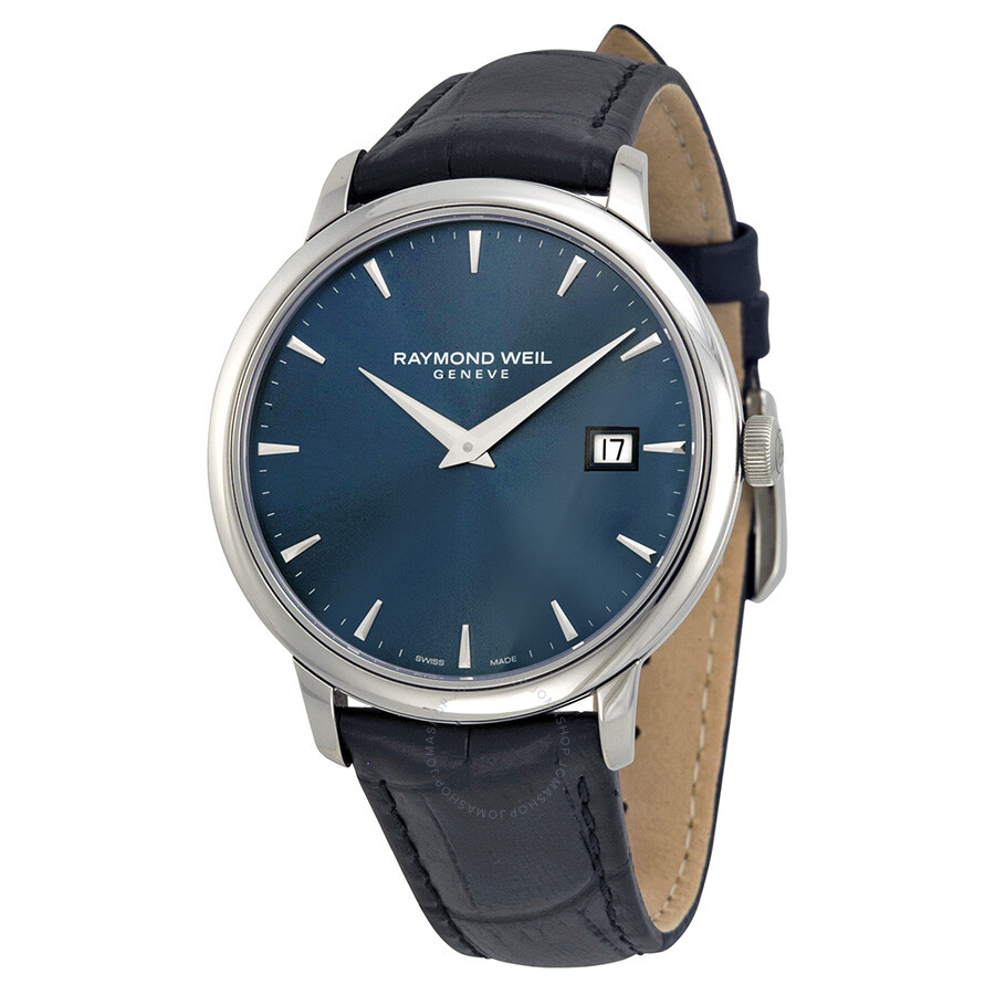 Raymond weil toccata blue dial black leather men 39 s watch 5488 stc 50001 toccata raymond weil for Raymond weil watch