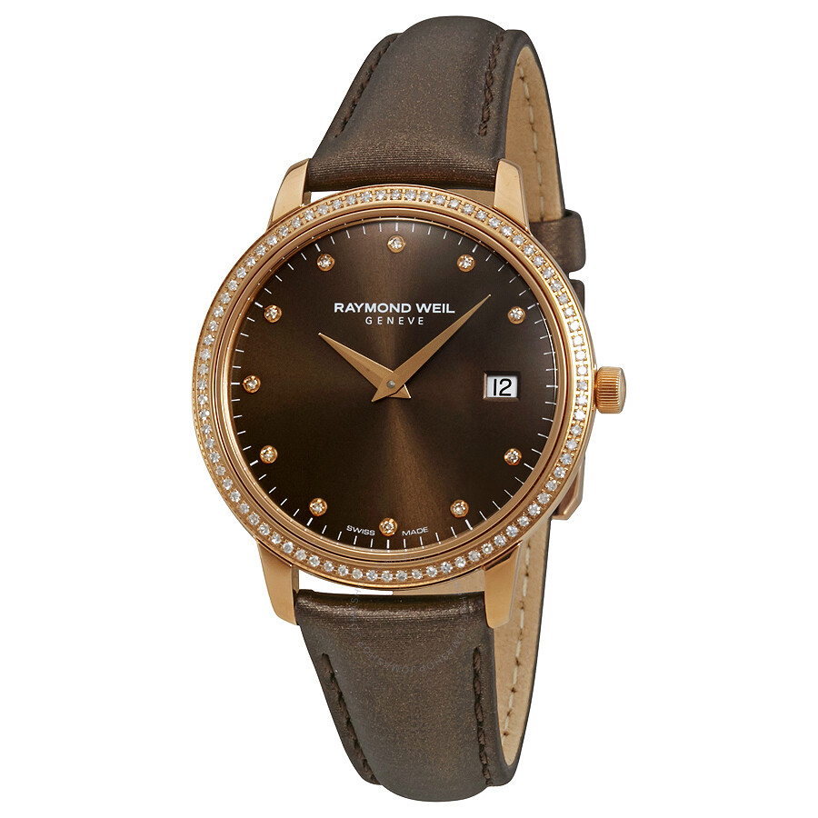 Raymond weil toccata brown dial ladies watch 5388 c5s 70081 toccata raymond weil watches for Raymond weil watch