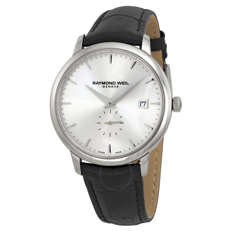 Raymond weil toccata silver dial black leather men 39 s watch rw 5484 stc 65001 toccata raymond for Raymond watches