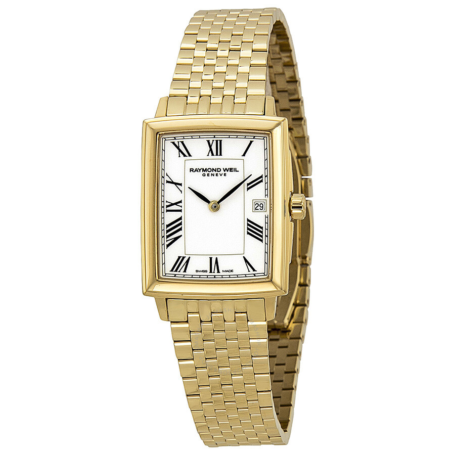 raymond weil tradition gold tone white