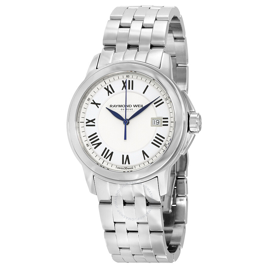 Raymond weil tradition silver dial stainless steel men 39 s watch 5578 st 00300 tradition for Raymond weil watch