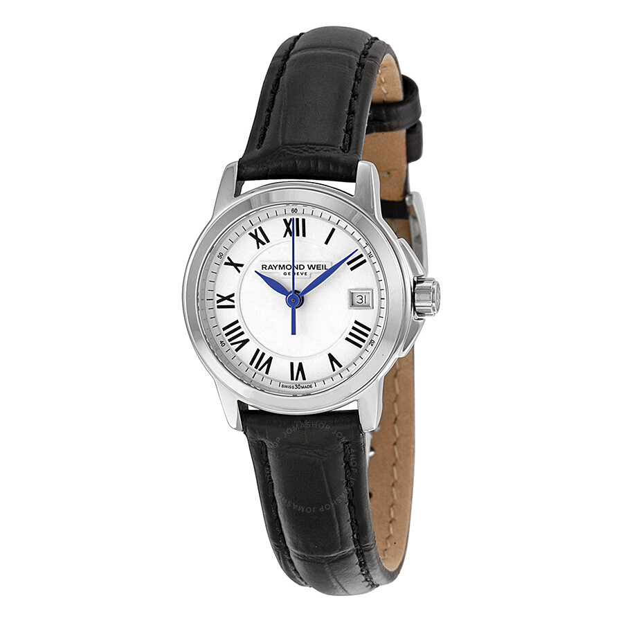 Raymond weil tradition white dial black leather ladies watch 5378 stc 00300 tradition for Raymond watches