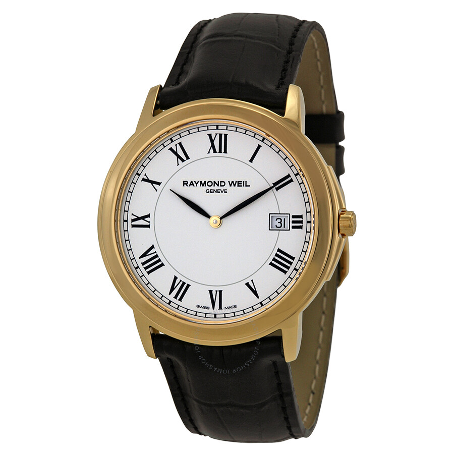 Raymond weil tradition white dial gold plated men 39 s watch 54661 pc 00300 tradition raymond for Raymond weil watch
