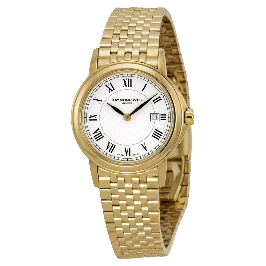 Raymond weil tradition white dial stainless steel ladies watch 5966 p 00300 tradition for Raymond weil watch