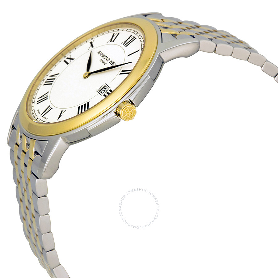 raymond weil tradition white dial two tone men s watch 5466 stp raymond weil tradition white dial two tone men s watch 5466 stp 00300