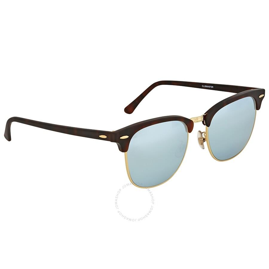 c147cb5001 Ray-Ban Clubmaster Light Green Silver Mirror Sunglasses - Clubmaster ...