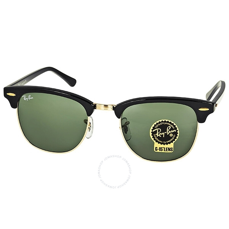 7a90df298e Ray-ban Clubmaster Ebony Arista Sunglasses Rb3016w0365-51 In Black ...