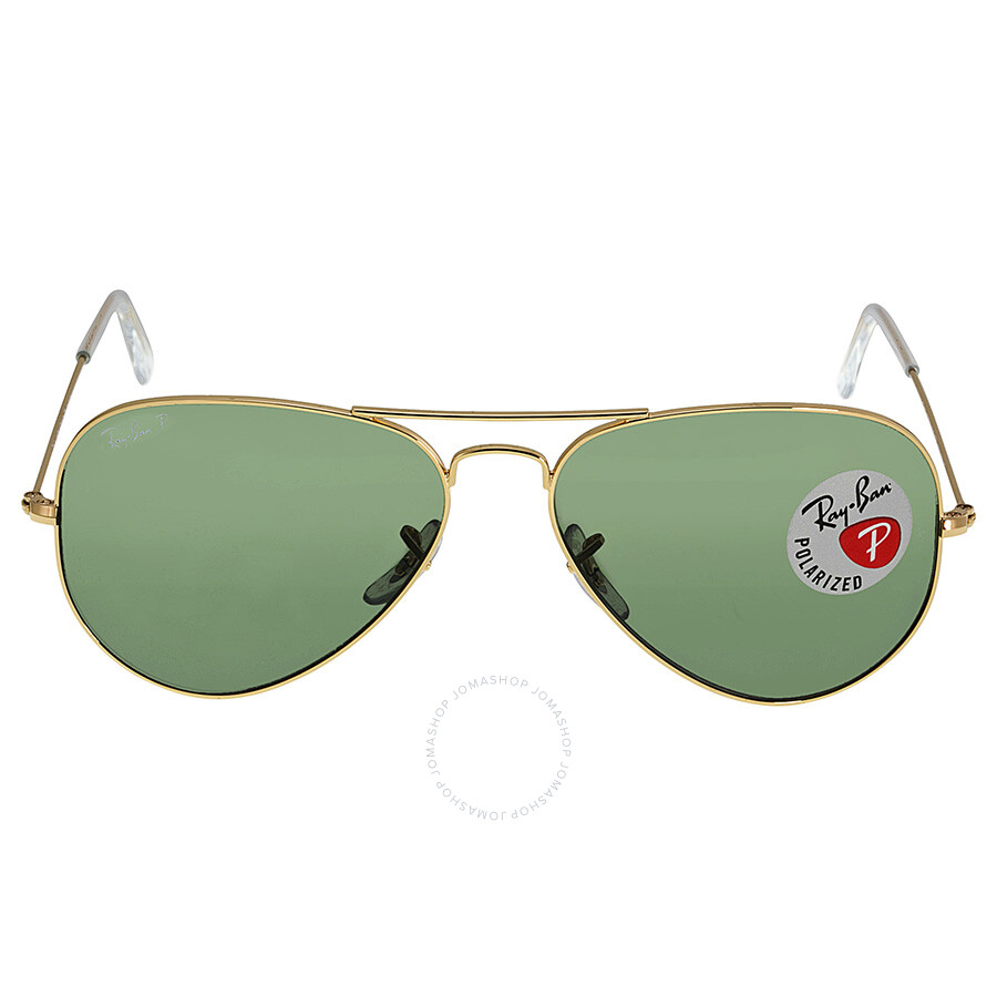 rb3025 58mm  Ray Ban Aviator Green Polarized Lens 58mm Men\u0027s Sunglasses RB3025 ...
